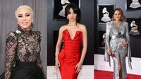 Gaun terbaik di ajang Grammy Awards 2018. (Mirror.co.uk, Jamie McCarthy/GETTY IMAGES NORTH AMERICA/AFP, ANGELA WEISS/AFP)