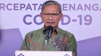 Juru Bicara Pemerintah untuk Penanganan COVID-19 Achmad Yurianto saat konferensi pers Corona di Graha BNPB, Jakarta, Kamis (9/7/2020). (Dok Badan Nasional Penanggulangan Bencana/Fotografer Dume Sinaga)