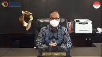 Menteri Perindustrian Agus Gumiwang dalam webinar Quo Vadis Industri Otomotif Indonesia di Era Elektrifikasi, Jumat (15/10/2021).
