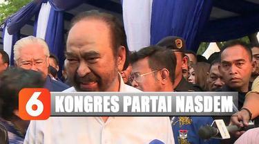 Ketum Surya Paloh mengundang Presiden Joko Widodo untuk berpidato menutup acara kongres.