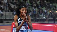 Atlet lari Belanda, Sifan Hassan, siap meraih tiga medali emas pada Olimpiade Tokyo 2020. (Tiziana FABI / AFP)