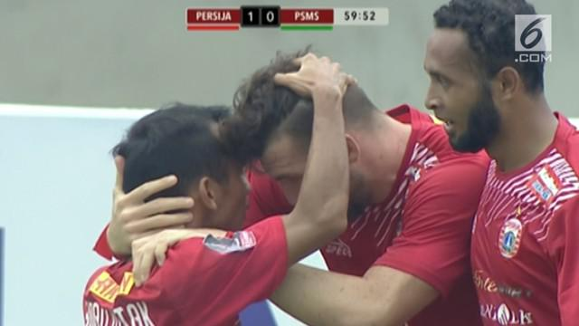 Persija  Jakarta menang tipis 1-0 melawan PSMS Medan dalam leg kedua semifinal Piala Presiden 2018 di Stadion Manahan, Solo.