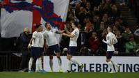 Inggris menang telak 7-0 atas Montenegro. (AP Photo/Ian Walton)