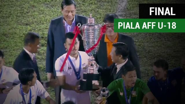 Berita video highlights final Piala AFF U-18 2017 antara Malaysia melawan Thailand yang berakhir dengan skor 0-2, Minggu (17/9).