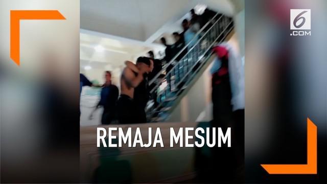 Beredar di media sosial sepasang remaja melakukan adegan mesum di atap sebuah masjid di Aceh.