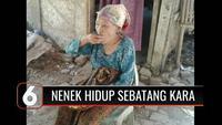 Seorang nenek berusia 75 tahun hidup sebatang kara dan dalam kondisi memprihatinkan di Subang, Jawa Barat. Selain tinggal di gubuk yang nyaris ambruk, nenek ini tidak pernah tersentuh bantuan sosial karena tidak adanya data kependudukan.