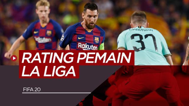 5 Pemain La Liga dengan Rating Terbaik di FIFA 2020. (Bola.com/Dody Iryawan)