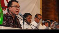 Tantowi menjelaskan Sikap Koalisi Merah Putih Kami mengakui dan menerima hasil keputusan MK, semua barang bukti sudah kami sampaikan tapi sistem MK tidak mengindahkan bukti – bukti yang kami ajukan (Liputan6.com/Andrian M Tunay)