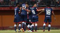 Selangor FA saat uji coba melawan Madura United di Stadion Gelora Ratu Pamelingan, Pamekasan (4/9/2018). (Bola.com/Aditya Wany)