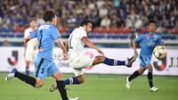 Chelsea takluk 0-1 dari Kawasaki Frontale dalam laga pramusim, di Nissan Stadium, Yokohama, Jumat (19/7/2019) malam WIB. (AFP/Kazuhiro Nogi)
