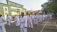 Aksi karate massal di Banjarmasin berhasil memecahkan rekor MURI (istimewa)