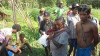 Ada sekitar 170 jiwa lagi yang juga mengalami kelaparan parah di pedalaman Pulau Seram. Namun, pemerintah baru berencana memberi bantuan pada Rabu besok. (dok. BPBD Kabupaten Maluku Tengah/Abdul Karim)