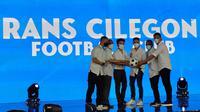 Raffi Ahmad melalui perusahaannya yakni Rans Entertainment bersama Prestige Motorcars resmi mengakusisi Cilegon United dan mengubah namanya menjadi RANS Cilegon FC. (dok. Istimewa)