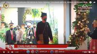 Presiden Jokowi mengenakan baju adat Badui di Sidang Tahunan MPR 2021. (Istimewa)