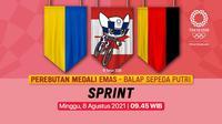 Banner Final Balap Sepeda Putri. (Foto: Vidio)