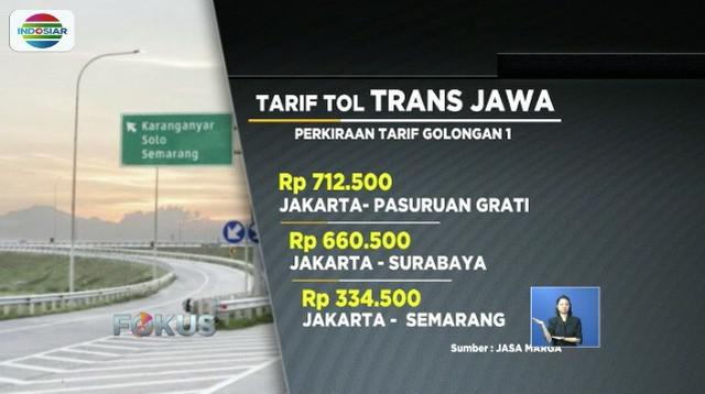 Sempat gratis selama satu bulan sejak diresmikan Jokowi, tiga ruas jalan tol trans Jawa kini mulai dikenakan tarif resmi.