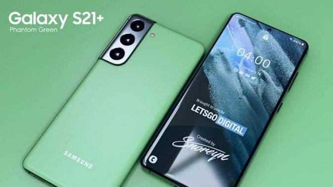 Samsung Galaxy S21 Plus Phantom Green bocor di situs resmi Samsung Australia. (Doc: LetsGoDigital))