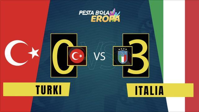 Berita video motion grafis kemenangan Timnas Italia atas Timnas Turki pada laga pembuka Euro 2020, Sabtu (12/6/2021) dinihari WIB.