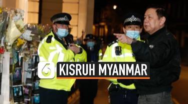 Kisruh Myanmar kini meluas hingga ke Inggris, kedutaan Myanmar kini diduduki oleh pihak junta militer. Sang duta besar bahkan tidak bisa masuk ke dalam kedutaan.