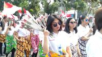 Srikandi milenial gelar aksi damai di depan Gedung KPK. (Istimewa)
