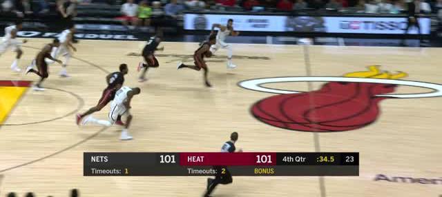 Berita video game recap NBA 2017-2018 antara Brooklyn Nets melawan Miami Heat dengan skor 110-109.