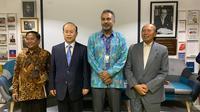 Para narasumber dalam acara diskusi Virus Corona di Bengkel Diplomasi FPCI, Senin 24 Februari 2020. (Liputan6.com/ Benedikta Miranti T.V)