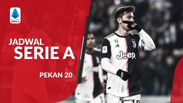 Berita video jadwal Serie A pekan ke-20. Juventus ditantang Parma, Minggu (20/1/2020) di Allianz Stadium.