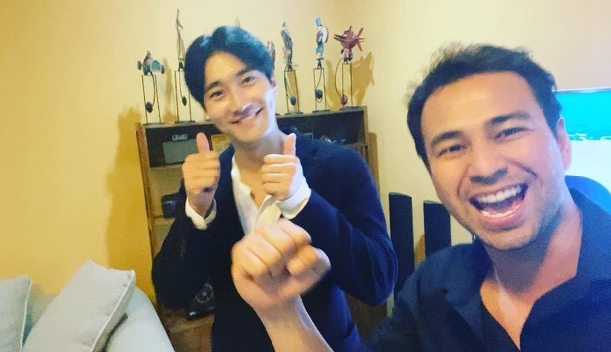Raffi Ahmad dan Siwon (Instagram/raffinagita1717)