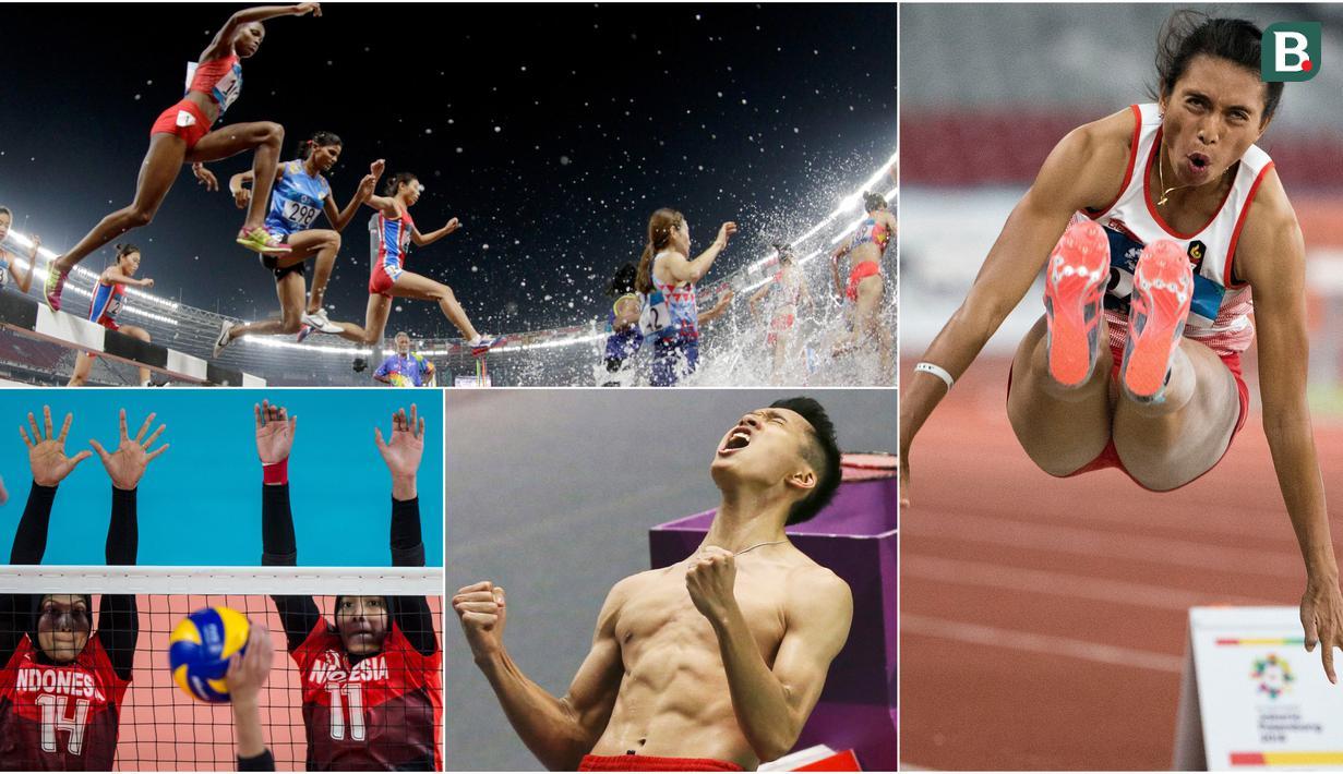 Berikut ini kumpulan momen menarik perhelatan akbar Asian Games sepanjang hari Senin 27 Agustus 2018. (Foto-foto Kolase Bola.com dan AP)