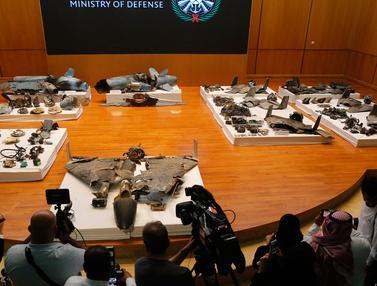 Penampakan Rudal dan Drone yang Serang Kilang Minyak Arab Saudi