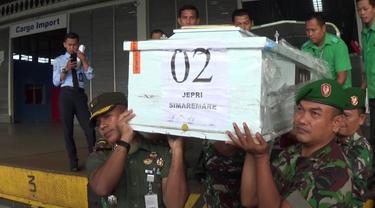 Warga Korban KKB Papua Tiba di Bandara Kualanamu