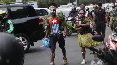 Demo di Depan Istana, Mahasiswa Papua Tuntut Referendum