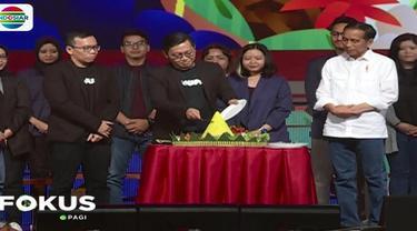 Dalam sambutannya, Presiden Jokowi memberi apresiasi kepada Bukalapak yang telah membangun ekosistem penjualan online.