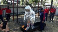 Pelatihan anggota Pemadam Kebakaran Kota Surabaya. (Suarasurabaya.net/Istimewa)