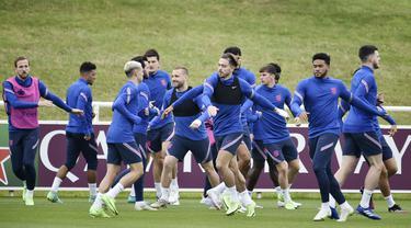 Timnas Inggris akan berhadapan dengan Ukraina pada babak perempat final Piala Eropa 2020 di Stadion Olimpico, Roma, Italia. (AP Photo/Rui Vieira)