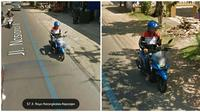 Momen unik yang tertangkap Google Street View (Sumber: Twitter/flutulang__)