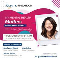 Bersama Dian Sastrowardoyo, Dove x Fimelahood kali ini akan membicarakan soal kesehatan mental. (Sumber foto: Fimela.com)