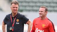 Wayne Rooney dan Louis van Gaal (Sky Sports)