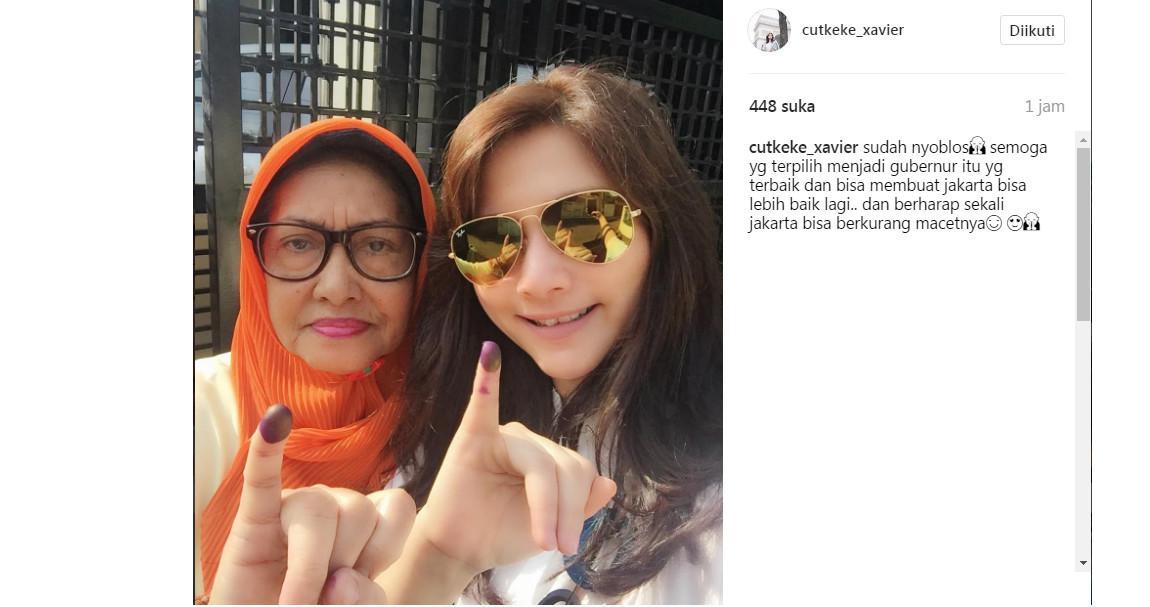 Cut Keke mengikuti pilkada DKI Jakarta putaran kedua (Foto: Instagram)