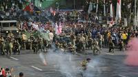 Parade juang pada 2018 (Foto; Liputan6.com/Dian Kurniawan)