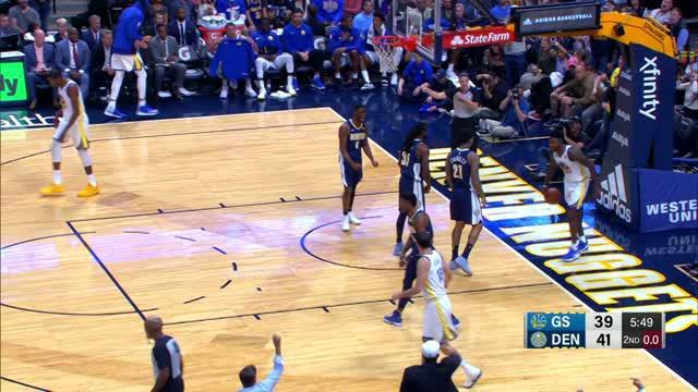 Golden State Warriors meraih kemenangan atas Denver Nuggets 127-108.
