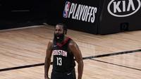 James Harden membawa Rockets ke semifinal wilayah NBA (AP)