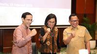 Mendikbud Nadiem Makarim, Menkeu Sri Mulyani dan Mendagri Tito Karnavian.