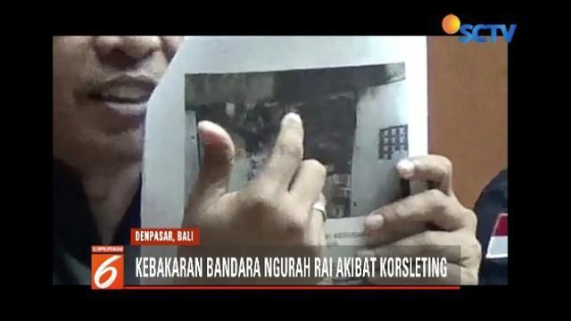 Puslabfor Mabes Polri mengatakan kebakaran Bandara Ngurah Rai, Bali, akibat korsleting listrik di ruang panel lantai satu.