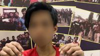 MA (21) pemuda yang tangkan Tim Python saat ingin transaksi narkoba di depan Mapolresta Mamuju (Liputan6.com/Abdul Rajab Umar)
