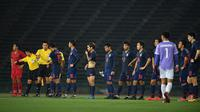 Timnas Thailand U-22 saat final Piala AFF U-22 2019 kontra Timnas Indonesia U-22 di Olympic Stadium, Phnom Penh (26/2/2019). (Bola.com/Dok. FAT)