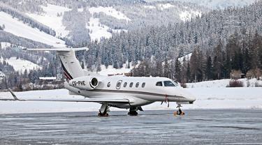 Ilustrasi jet pribadi.