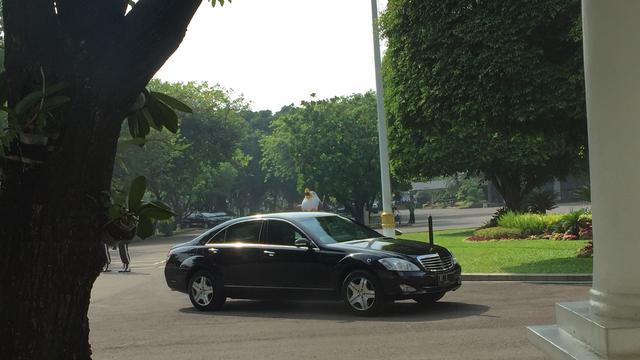 Mobil Presiden Jokowi Saat Memasuki Istana Negara, Jakarta, Kamis (25/5/2019). (Foto: Merdeka.com)