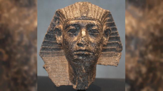 Ukiran kepala Firaun Sesostris III dari dinasti ke-12. (Sumber Wikimedia Commons)