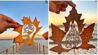 Ukiran Keren Ini Hanya Dibuat Dari Daun Kreatif Banget (Sumber:Instagram/kanat_n)